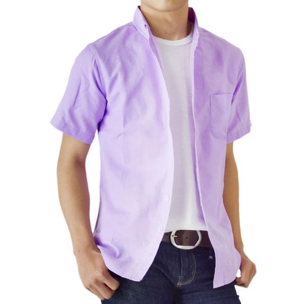 シャツ メンズ オックスフォードシャツ ボタンダウンシャツ カジュアル 半袖 送料無料 通販M《M1.5》|aronacasual|27