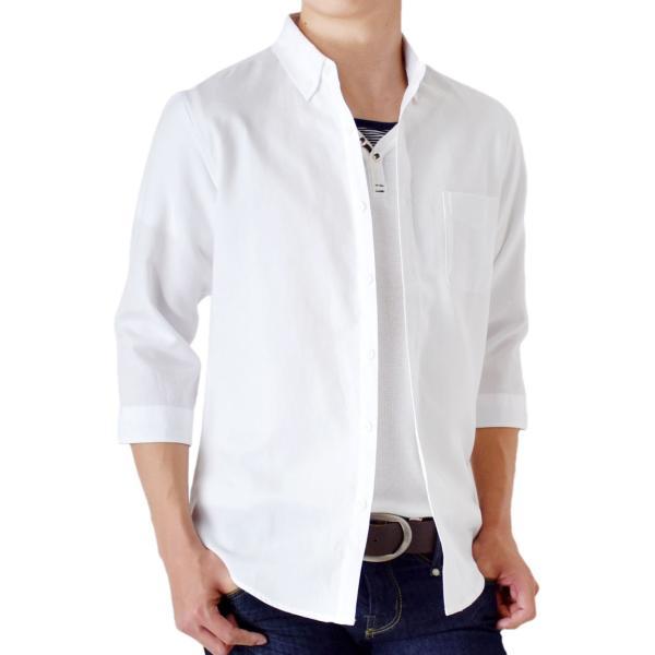 シャツ メンズ オックスフォードシャツ ボタンダウン 7分袖 セール 送料無料 通販M《M1.5》|aronacasual|22