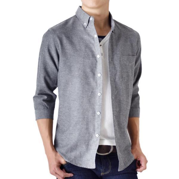 シャツ メンズ オックスフォードシャツ ボタンダウン 7分袖 セール 送料無料 通販M《M1.5》|aronacasual|23