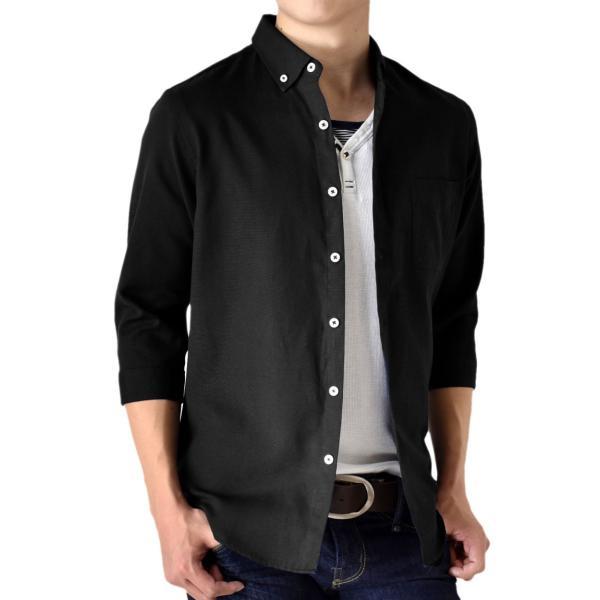 シャツ メンズ オックスフォードシャツ ボタンダウン 7分袖 セール 送料無料 通販M《M1.5》|aronacasual|27