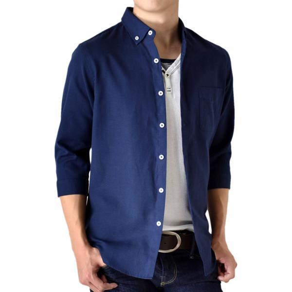 シャツ メンズ オックスフォードシャツ ボタンダウン 7分袖 セール 送料無料 通販M《M1.5》|aronacasual|25