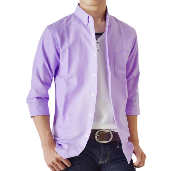 シャツ メンズ オックスフォードシャツ ボタンダウン 7分袖 セール 送料無料 通販M《M1.5》|aronacasual|30