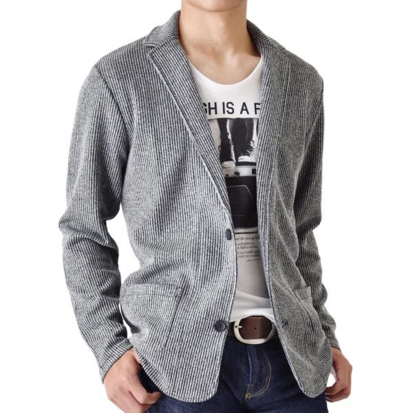 ジャケット ストレッチ シャドーストライプ ブルゾン カーディガン メンズ  送料無料 通販Y|aronacasual|20