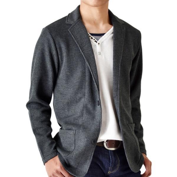ジャケット ストレッチ シャドーストライプ ブルゾン カーディガン メンズ  送料無料 通販Y|aronacasual|21