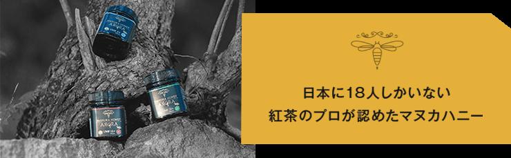 日本に18人しかいない紅茶のプロが認めたマヌカハニー