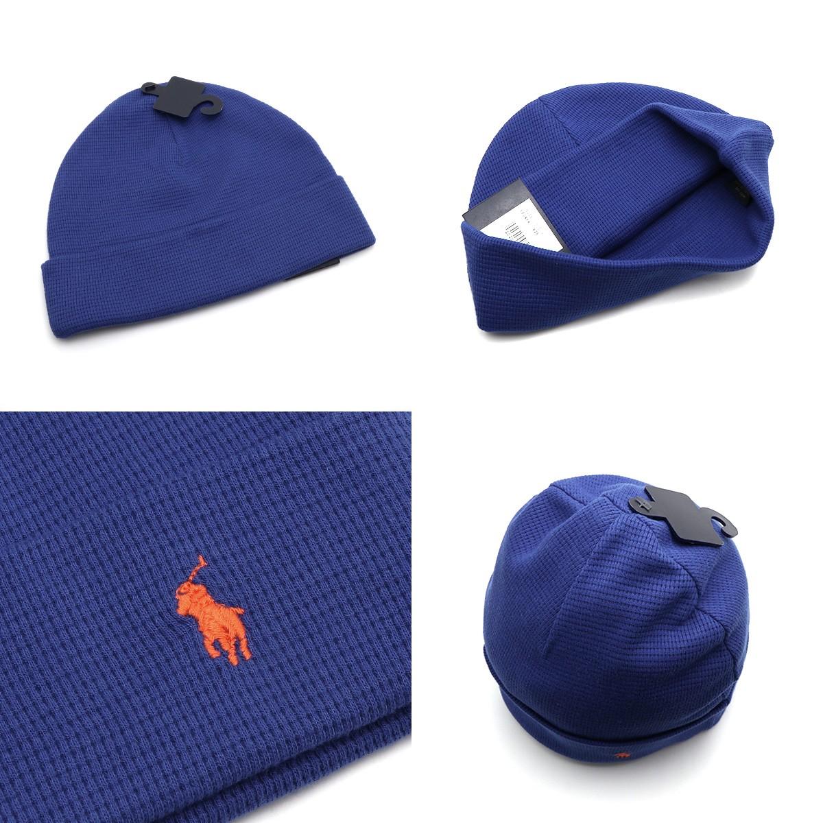 POLO RALPH LAUREN ポロ ラルフローレンワッフル地 ニット帽 ワッチ ビーニー 帽子 6F0468 メンズ 男性用 レディース 女性用 ユニセックス ポニーマルチポニーフリー