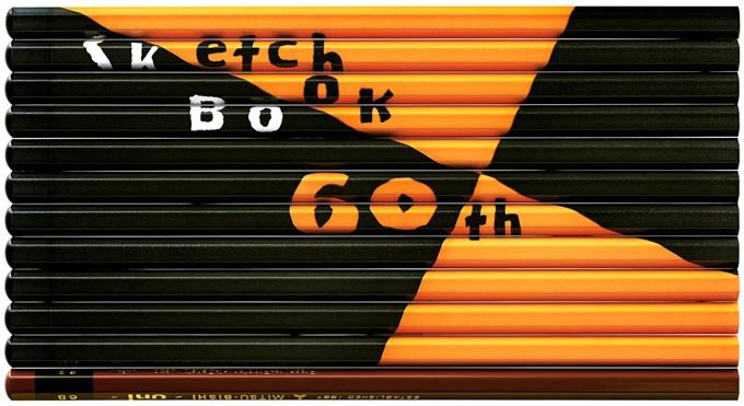 横型60th図案スケッチブックのデザイン
