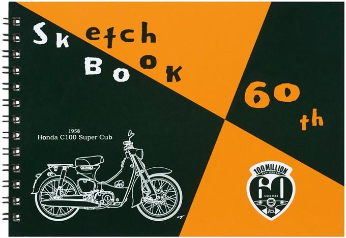 """スケッチブック """"60th 図案 × スーパーカブ"""" コラボレーションスケッチブック B6 ZSCLB1"""