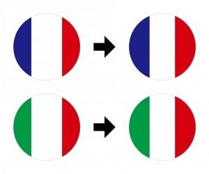 フランス・イタリア国旗修正