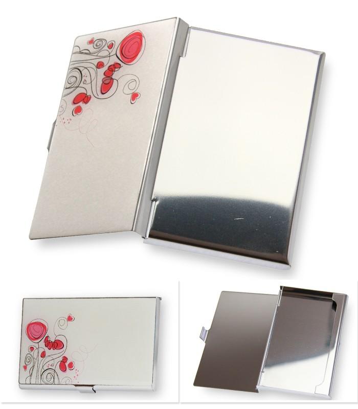 フラワー 薄型 カードケース 名刺入れ 花