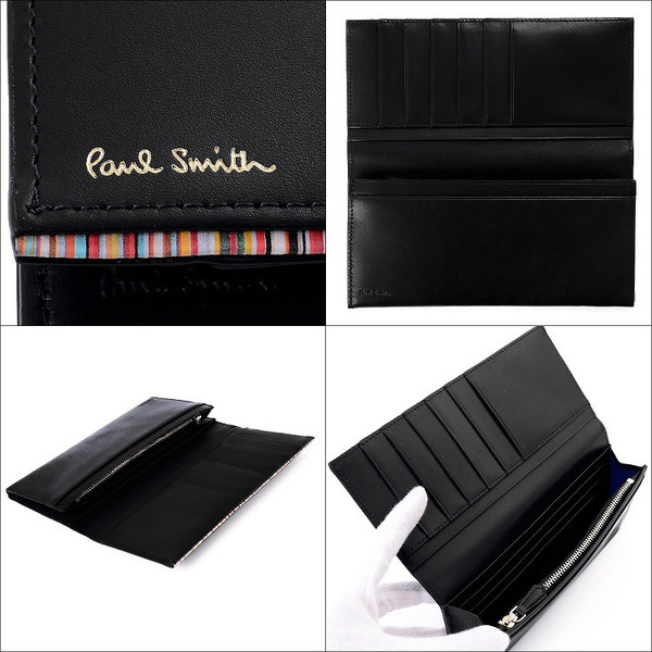 ポールスミス 財布 メンズ 二つ折り 長財布 Paul Smith PSC756 P756 マルチカラー ストライプポイント 新作|aruarumarket|09