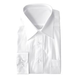 Yシャツ メンズ 長袖 ワイシャツ カッターシャツ ビジネスシャツ 形状安定 ノーアイロン ト レギュラー衿 ボタンダウン ワイドカラー mens アルージェ