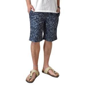 ハーフパンツ 吸汗速乾 ドライ ストレッチ 接触冷感 UV対策 総柄 ショートパンツ セール mens アルージェ