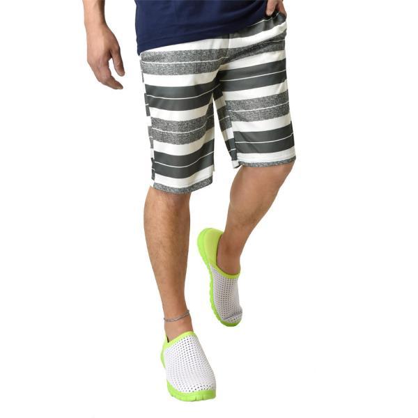 ハーフパンツ 吸汗速乾 ドライ ストレッチ 接触冷感 UV対策 総柄 ショートパンツ メンズ|aruge|23