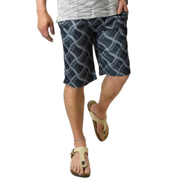 ハーフパンツ 吸汗速乾 ドライ ストレッチ 接触冷感 UV対策 総柄 ショートパンツ メンズ|aruge|25