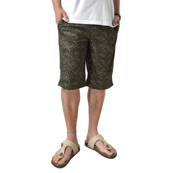 ハーフパンツ 吸汗速乾 ドライ ストレッチ 接触冷感 UV対策 総柄 ショートパンツ メンズ|aruge|32