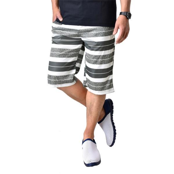 ハーフパンツ 吸汗速乾 ドライ ストレッチ 接触冷感 UV対策 総柄 ショートパンツ メンズ|aruge|33