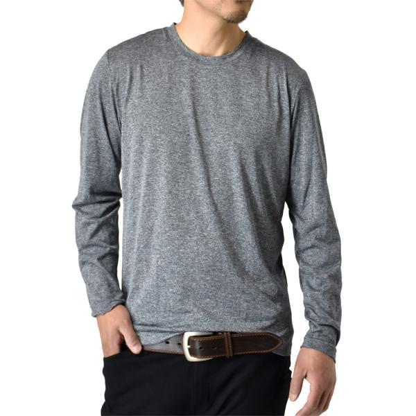 ロングTシャツ 吸汗速乾 ドライ UVカット ゴルフウェア 長袖Tシャツ 脇汗対策 ロンT 夏用 ラッシュガード 日よけ Tシャツ 水陸両用 メンズ セール|aruge|25