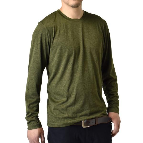 ロングTシャツ 吸汗速乾 ドライ UVカット ゴルフウェア 長袖Tシャツ 脇汗対策 ロンT 夏用 ラッシュガード 日よけ Tシャツ 水陸両用 メンズ セール|aruge|27