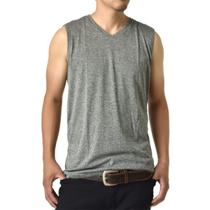 半袖 Tシャツ メンズ ノースリーブ Vネック 感動ドライ 吸汗速乾 接触冷感 UVカット UPF50+ 脇汗対策 ラッシュガード 水陸両用 セール mens アルージェ