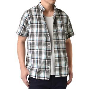 半袖シャツ メンズ ボタンダウン チェック ストライプ カッターシャツ カジュアルシャツ セール mens アルージェ