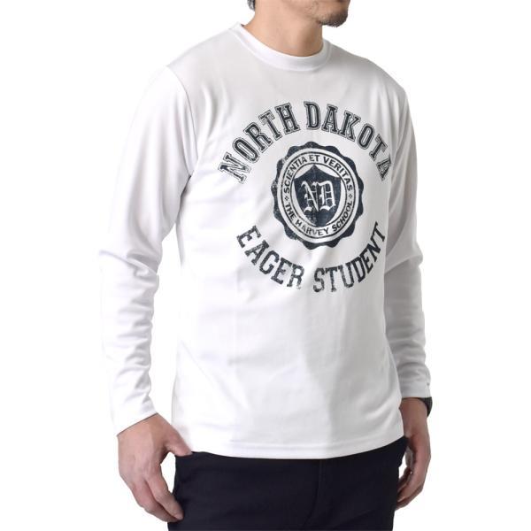 ドライ 吸汗速乾 長袖 Tシャツ ロンT ロングTシャツ 脇汗対策 ムジ アメカジ ロゴ ミリタリー メンズ セール|aruge|14