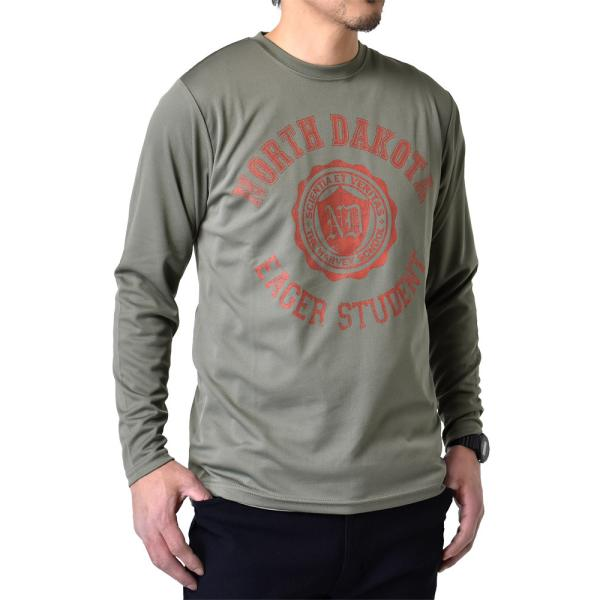 ドライ 吸汗速乾 長袖 Tシャツ ロンT ロングTシャツ 脇汗対策 ムジ アメカジ ロゴ ミリタリー メンズ セール|aruge|15