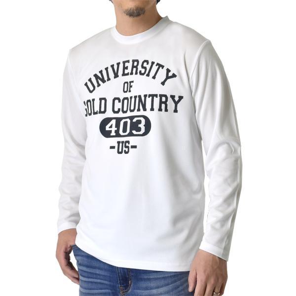 ドライ 吸汗速乾 長袖 Tシャツ ロンT ロングTシャツ 脇汗対策 ムジ アメカジ ロゴ ミリタリー メンズ セール|aruge|10