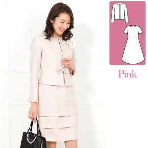 スーツ レディース 入学式 卒業式 卒園式 入園式 服装 ママ 30代 40代 セレモニースーツ ワンピース 2点セット 大きいサイズ|AddRouge