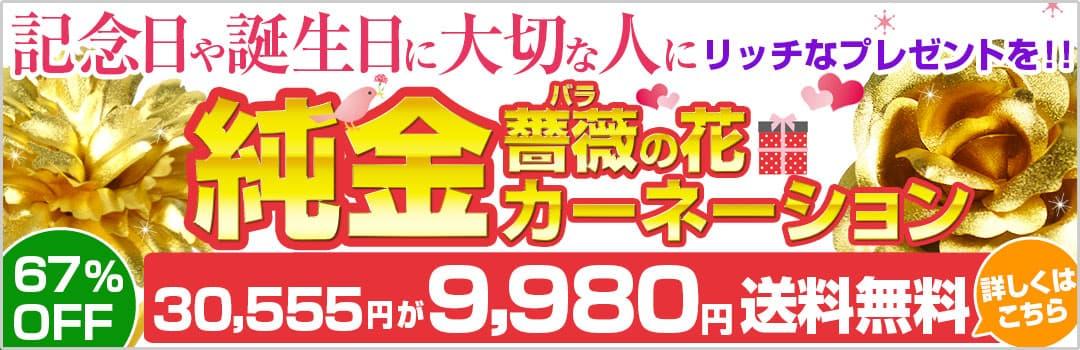 母の日にリッチなプレゼントを!!純金カーネーション メーカー希望小売価格30,000円→4,980円 83%OFF 送料無料