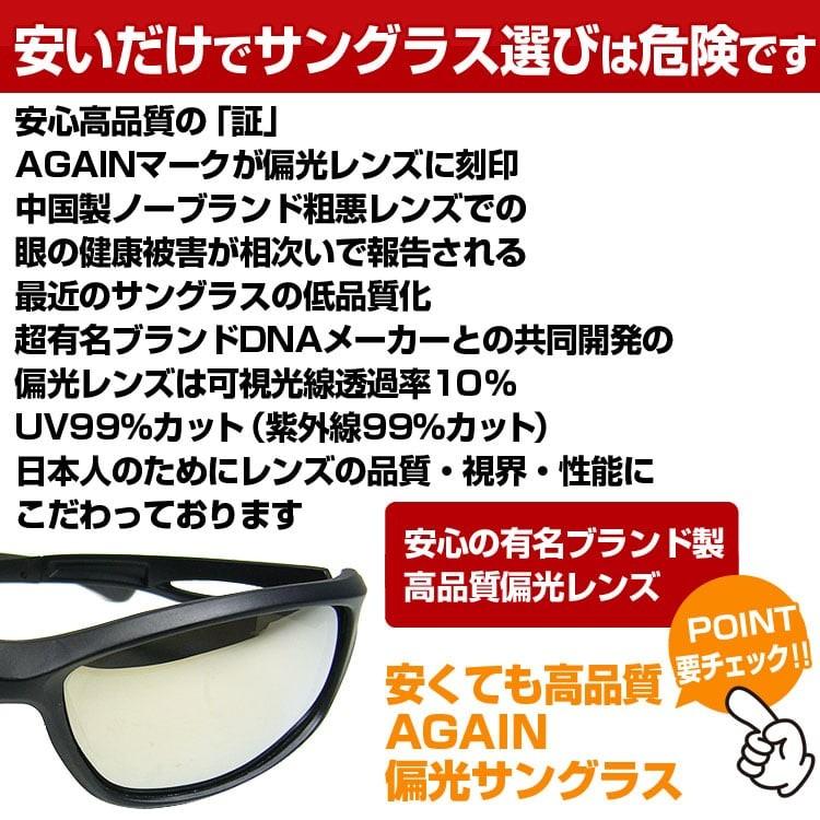 AGAIN 偏光サングラス AG33