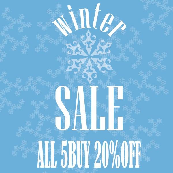 winter sale 5点以上お買上げで20%off