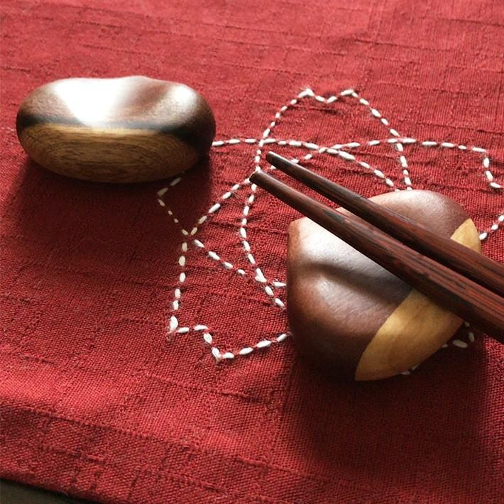 アジアクラフトリンク 箸置き 栗