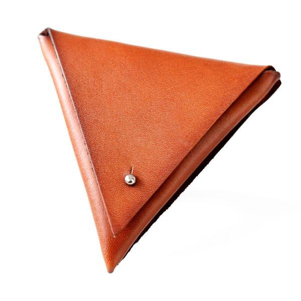 コインケース 小銭入れ レザー 本革 サドルレザー トライアングル 三角形 おしゃれ 高級感 asianarts 13