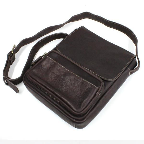 ショルダーバッグ レザー メンズ 本革 大容量 iPad タブレット A4 メッセンジャーバッグ ビジネスバッグ 斜めがけ asianarts 09