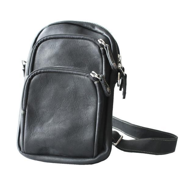 ボディバッグ レザー メンズ 本革 大容量 シンプル 斜めがけ ワンショルダーバッグ
