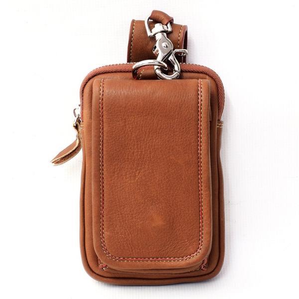スマホケース iPhoneケース レザー 本革 牛革 カーフスキン ダブルポケット 携帯ケース スマートフォン収納|asianarts|08