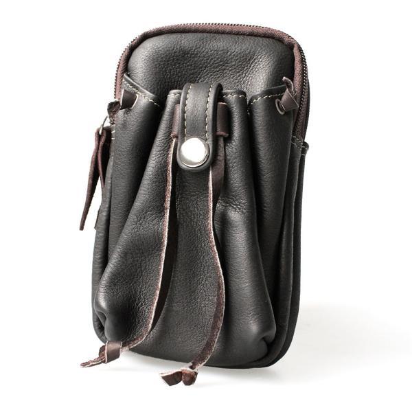 スマホケース iPhoneケース レザー マルチケース 本革 モバイルケース カーフスキン ハンドメイド 巾着ポケット|asianarts|12