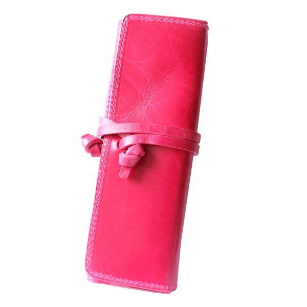 ペンケース 本革 ロール型ペンケース イタリアンレザー 三つ折り 革紐留め プルームテックケース|asianarts|23