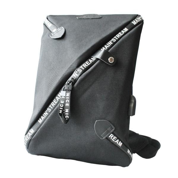ボディバッグ USBポート ワンショルダーバッグ 斜めがけ スリングバッグ  軽量 充電 おしゃれ プレゼント|asianarts|15