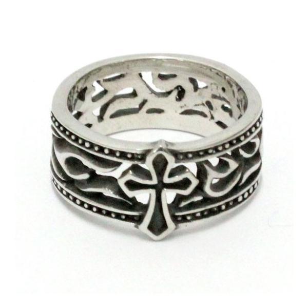リング シルバーミックス 指輪 メンズ レディース クロス 百合の紋章 アラベスク クラウン ジルコニア|asianarts|05