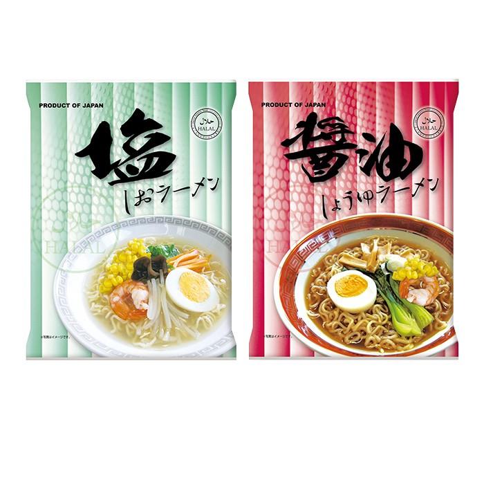 ハラル認定 ノンフライ麺インスタントラーメン 2種60食 醤油 塩 国産 HALAL