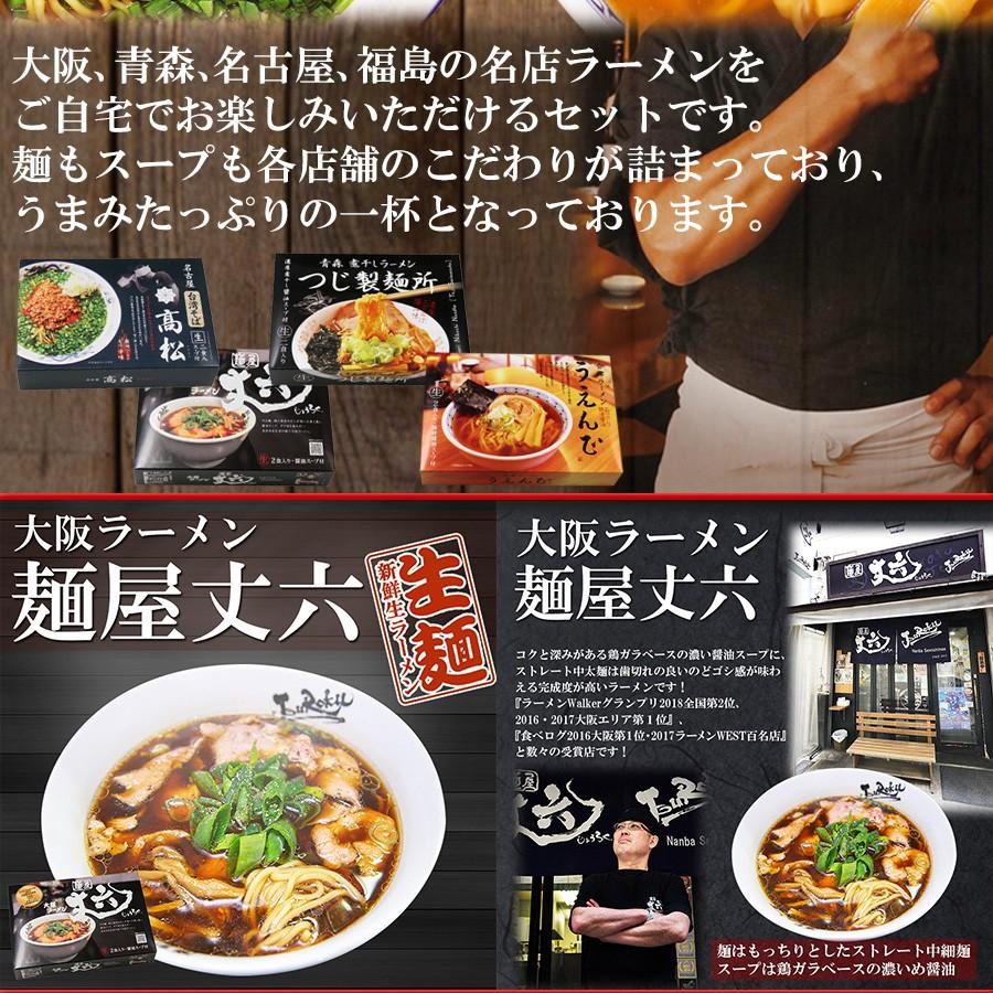 厳選日本ご当地ラーメン4種類8食セット (麺屋丈六 つじ製麺所 高松 うえんで)