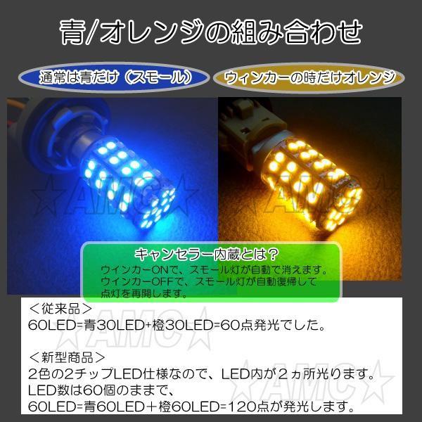 青60LED、橙60LEDでキレイな発光です。