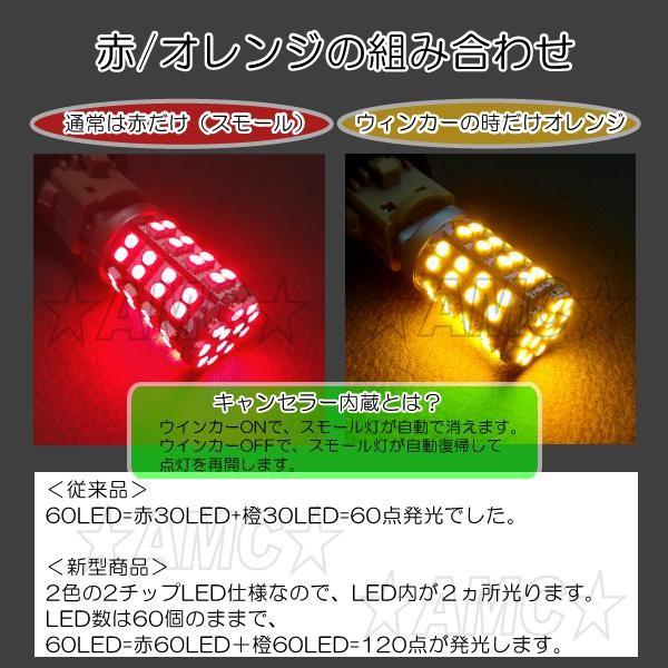 赤60LED、橙60LEDでキレイな発光です。