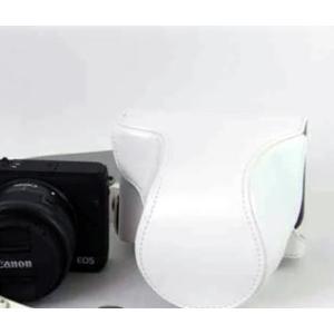 レザーカメラケース CANON EOS M100 M10 M2 M 対応 お揃いカラーのストラップ付き 専用ケースでぴったりフィット asianzakka 17
