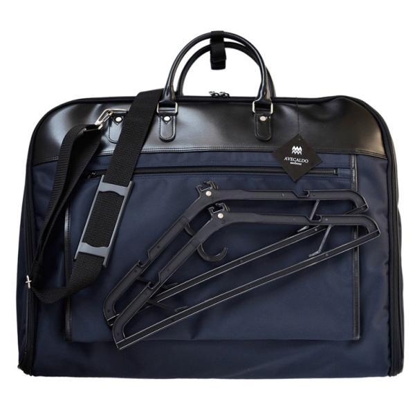 ガーメントバッグ 日本製 メンズ レディース スーツバッグ ガーメントケース ハンガー2本付き AVECALDO アベカルド AV-E109|asoboze|11