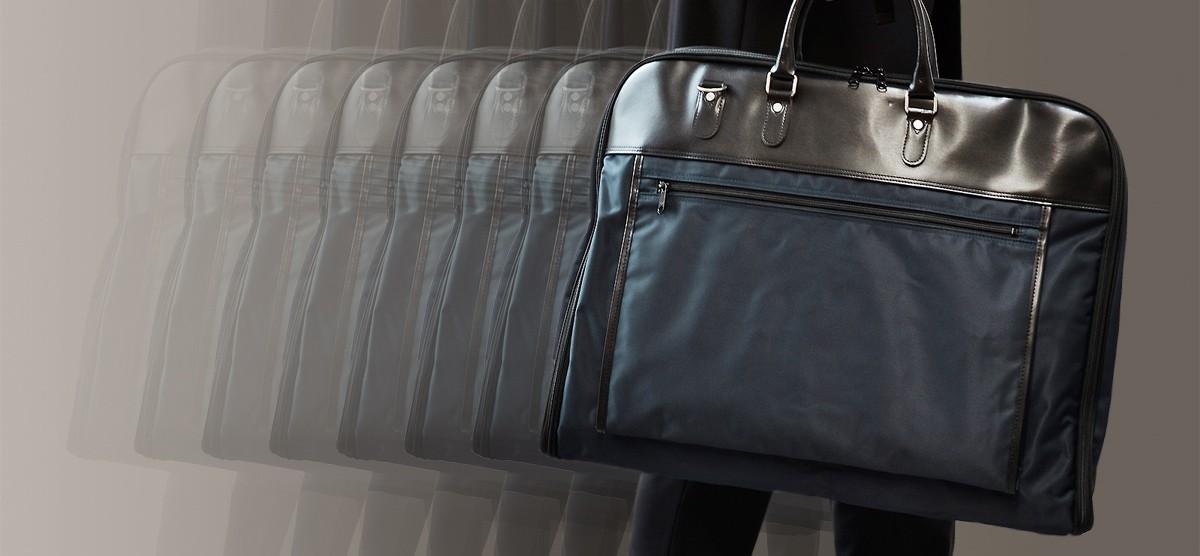 日本製ガーメントバッグAV-E109はasobozeのこだわりがつまったスーツキャリーです。