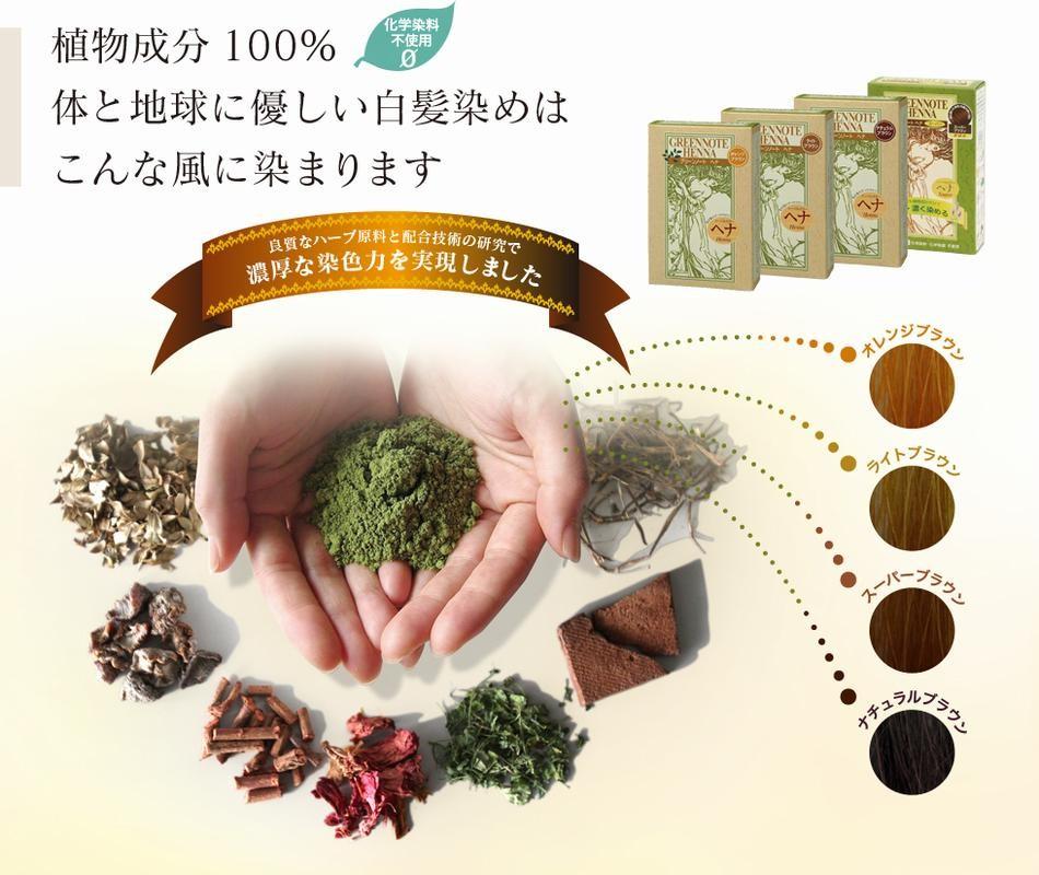ヘナは植物原料100%から生まれた自然派の白髪染め