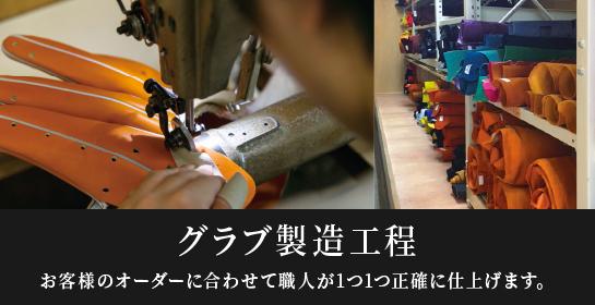 オーダーグラブの製造工程